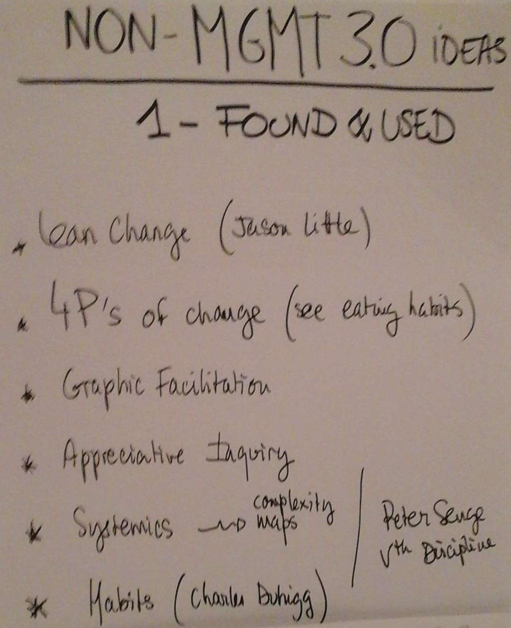 Résultats Non-Management 3.0 1-Found&Used