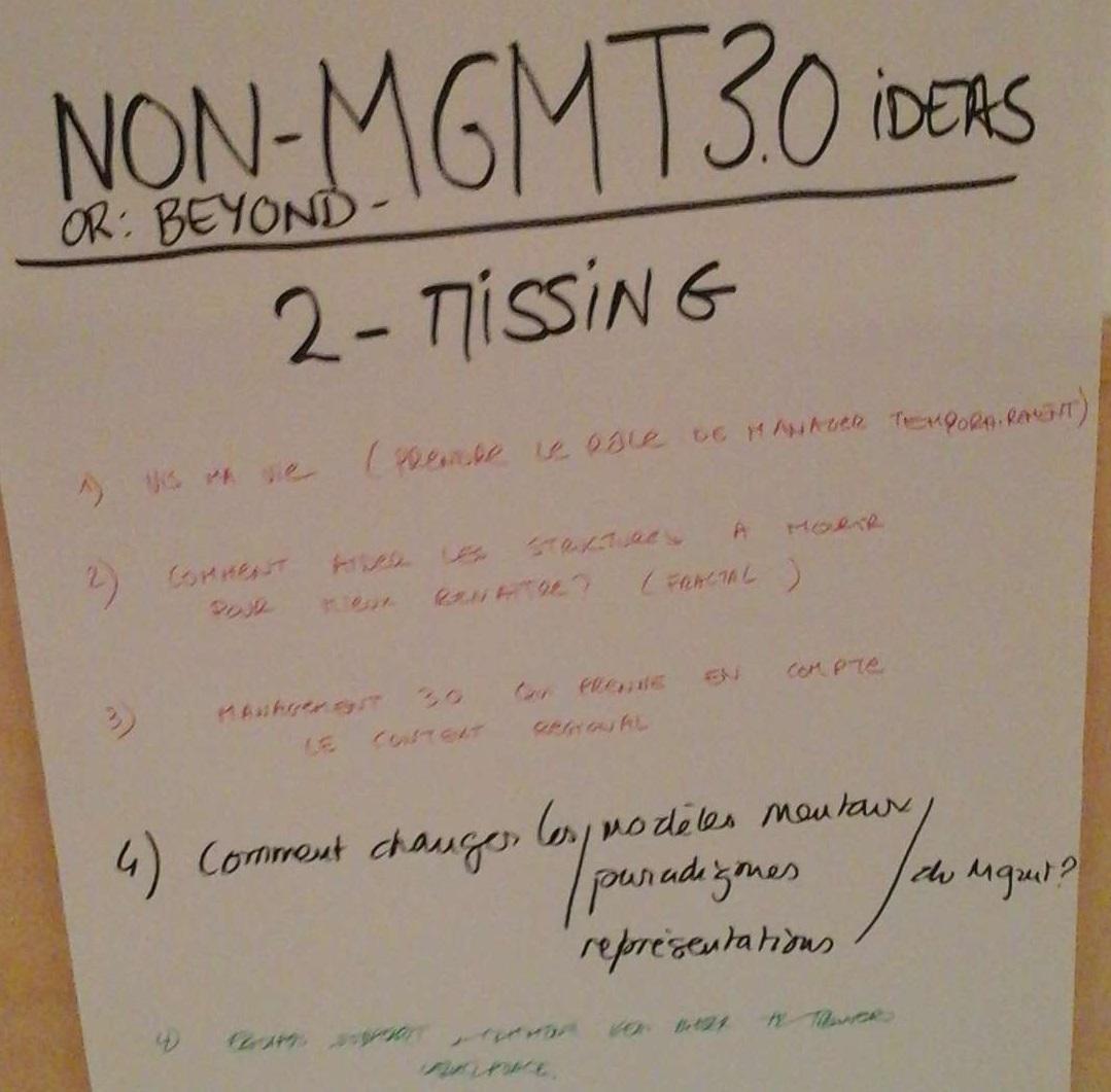 Résultats Non Management 3.0 2-Missing