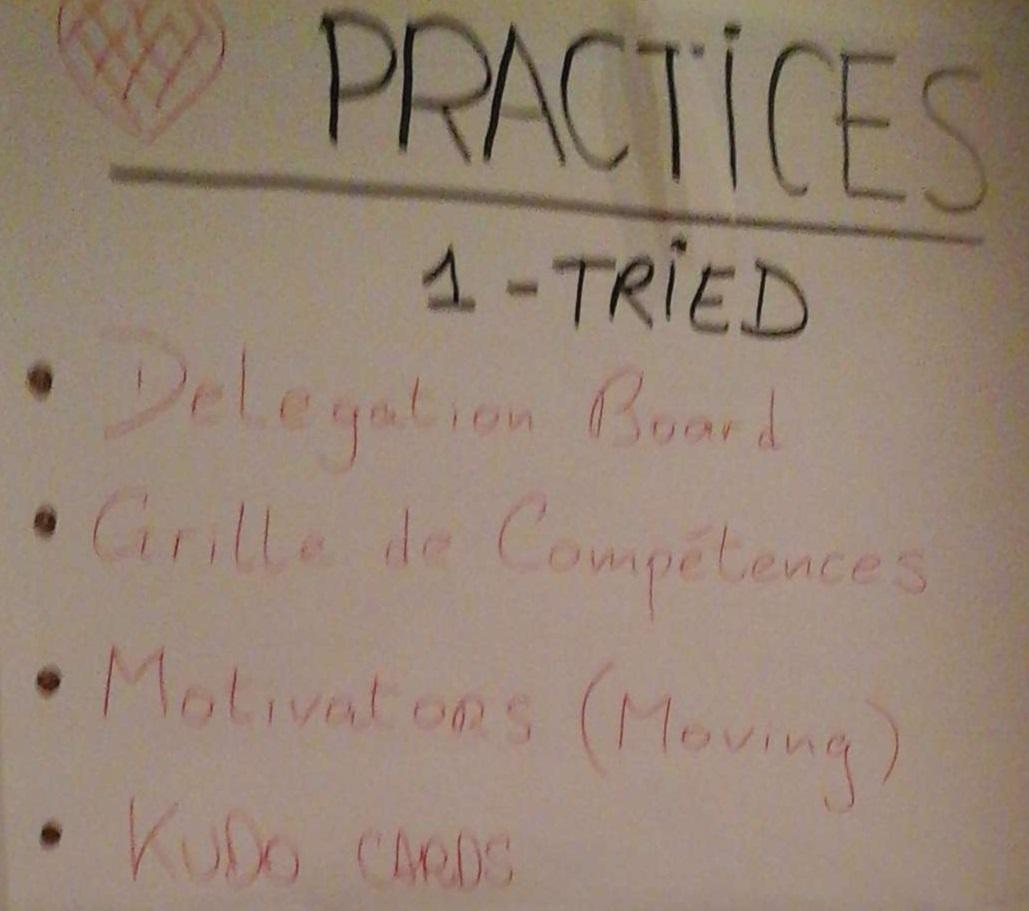Résultats practices 1-Tried